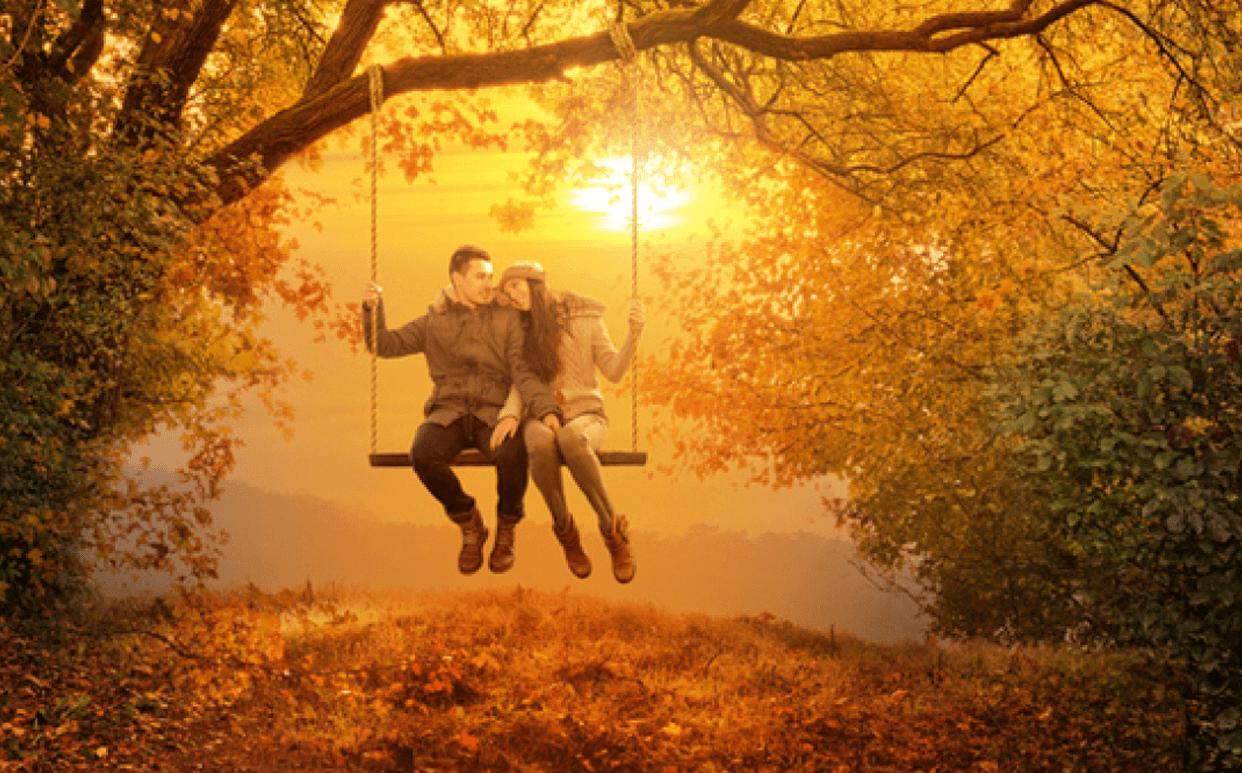 двое на карусели в осеннем парке фотографии ремонт установка тента